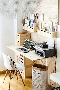 Top 30 stunning diy projects to organize your office sky for Diy office decorations