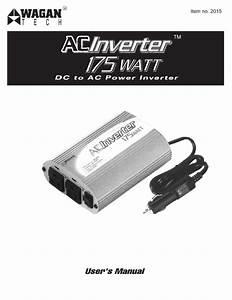 175 Watt Ac To Dc Power Inverter Manuals
