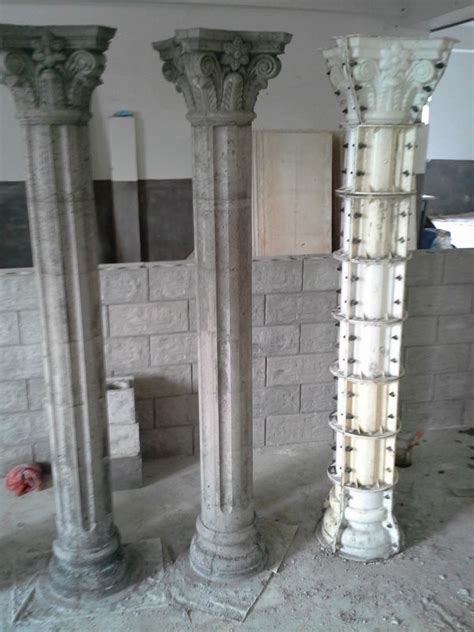 Cheap White Marble/ Granite Hollw Columns Pillars For