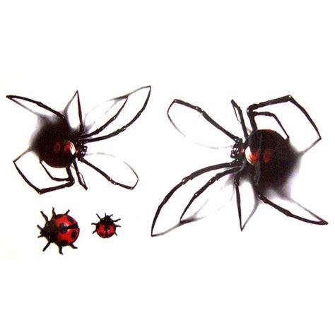 tatouage ephemere  temporaire araignee  coccinelle