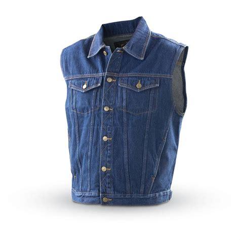 denim vest guide gear denim jacket vest blue 130232 vests at