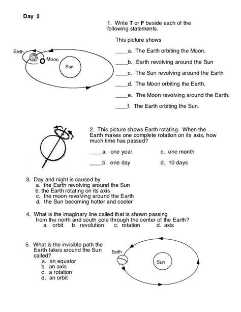 image result for earth moon sun worksheets 3rd grade