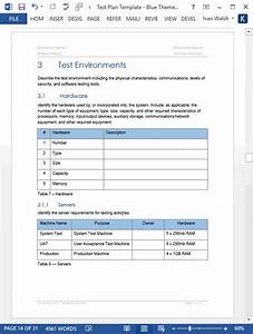 Download Table Of Contents Template Test Plan Templates Templates Forms Checklists For Ms