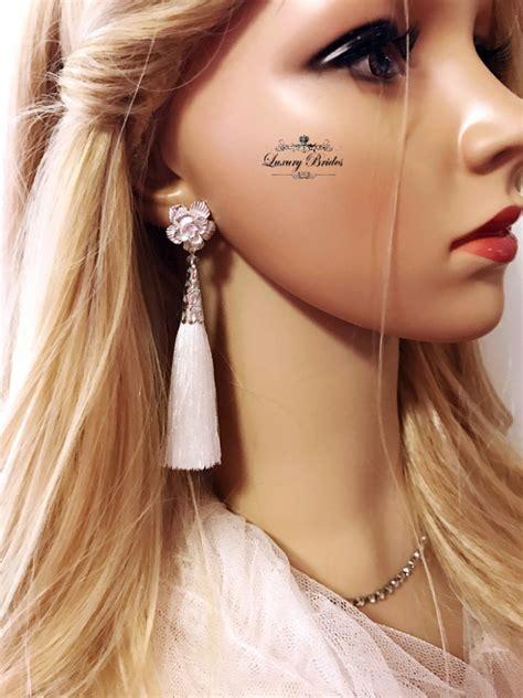 Tassel Earrings Snow Flower  Luxury Tiaras