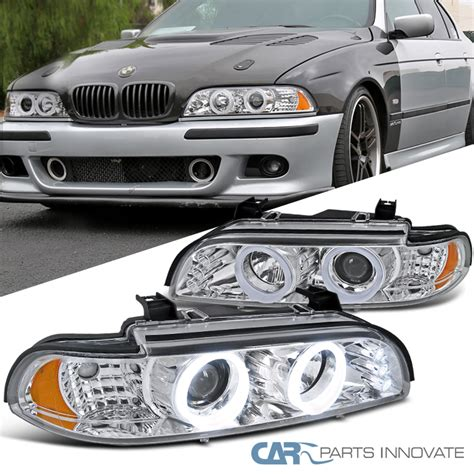 bmw halo lights 2001 2003 bmw e39 5 series 528i 540i chrome led iced halo