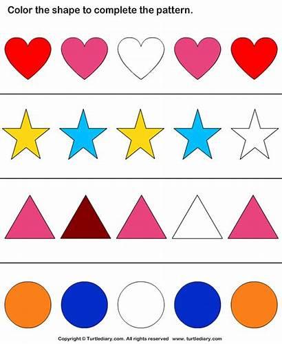 Pattern Shapes Worksheet Worksheets Shape Answer Question