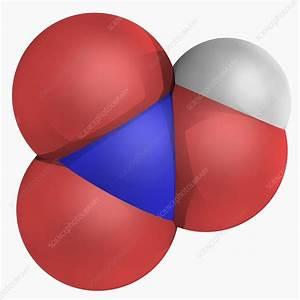 Nitric Acid Molecule - Stock Image F004  7233