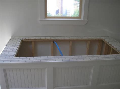 decks drop in tub and marbles on