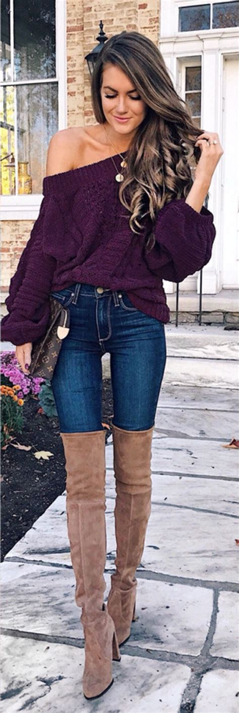 Boat Neck Jacket Look by 40 Fabulous Ideas To Wear This Fall Fall Style