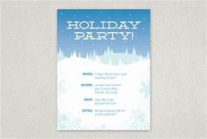 Winter Holiday Party Flyer Template