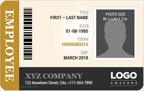 id card template word employee id card templates microsoft word id card templates