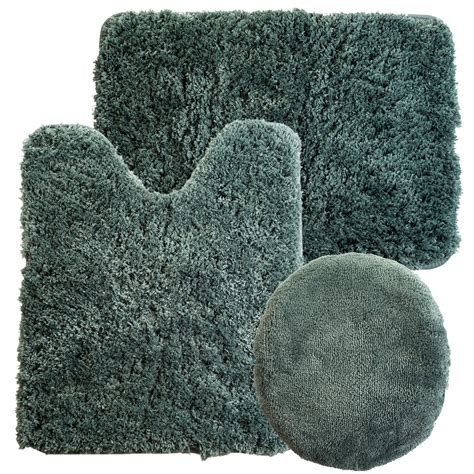 decor winsome  piece bathroom rug set  terrific home