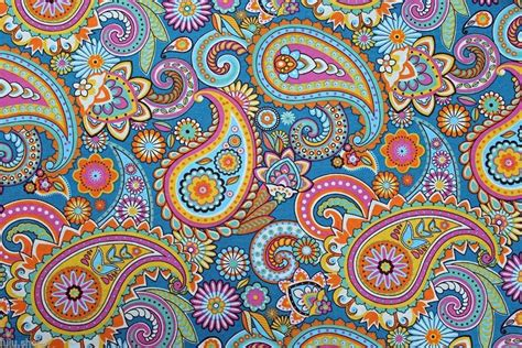 Blue Paisley Upholstery Fabric by Blue Paisley Designer Curtain Upholstery Cotton Fabric