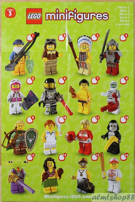 lego mini poster leaflet minifigures series 1 2 3 4 5 6 7 8 9 10 11 12 13 14 15 lego lego