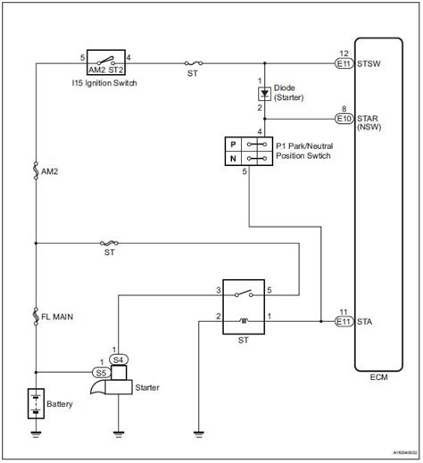 toyota service manual starter relay circuit high diagnostic trouble code chart sfi