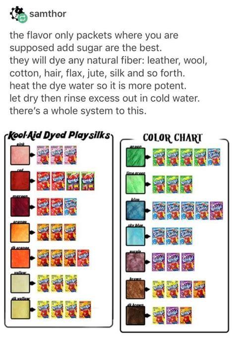 dyeing yarn  kool aid color chart chart walls