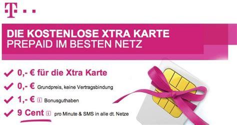 nur noch bis mittwoch kostenlose telekom xtra prepaid sim