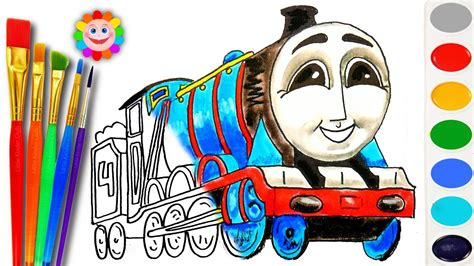 coloring  thomas  friends   draw gordon learn colors video  kids youtube