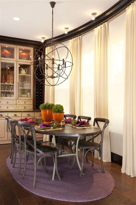 Vibrant Transitional Family Home Kitchen Dining Room
