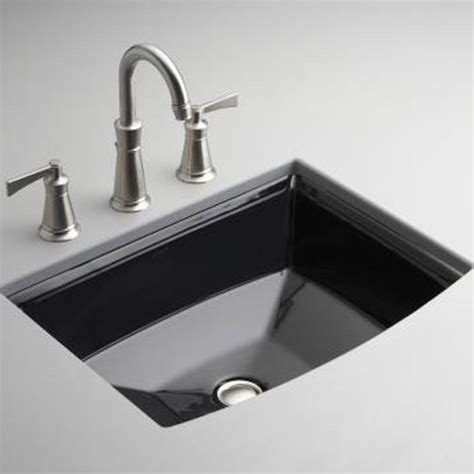 kohler archer undermount sink k2355 7 archer undermount style bathroom sink black at