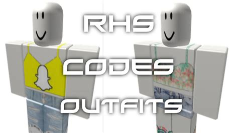 rhs code show roblox outfits  girls  youtube