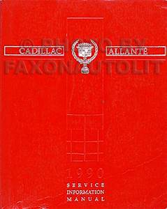 1990 Cadillac Allante Original Repair Shop Manual