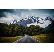 Nature Landscape Road Asphalt Mountain Forest Grass