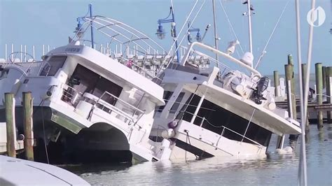 Boats Damaged By Hurricane Florence by Hurricane Irma Destroys Boats In Miami