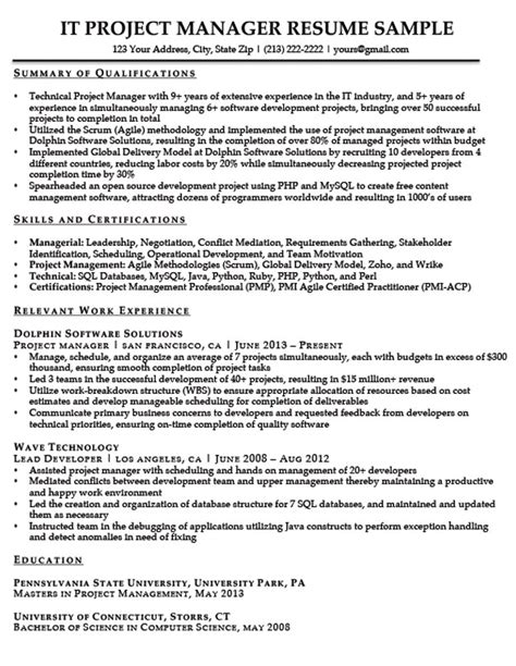 Senior Project Manager Resume Summary by How To Write A Summary Of Qualifications Resume Companion