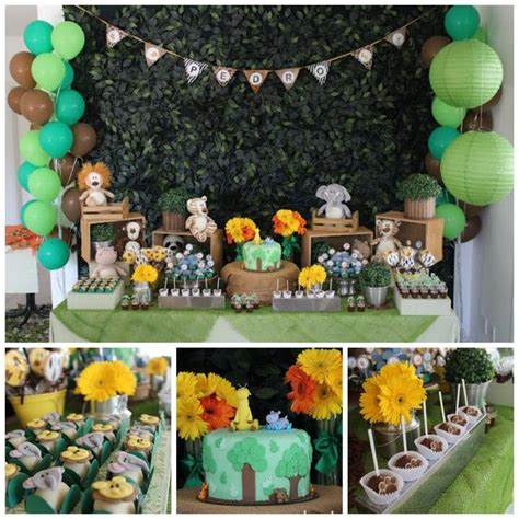 Jungle Animal Party 1st birthday Bickiboo Party