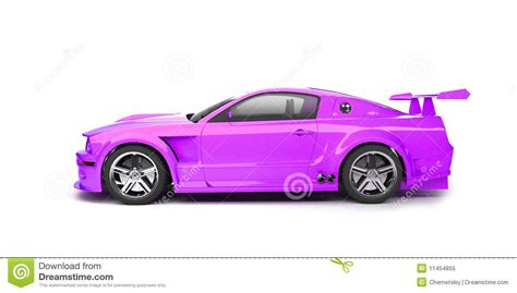 cartoon sports car side view dynamic purple sport car side view stock illustration