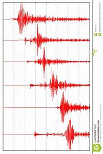 Six Red Seismogram Stock Illustration  Illustration Of