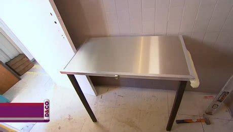 table de cuisine a fixer au mur créer une table murale rabattable et pliante