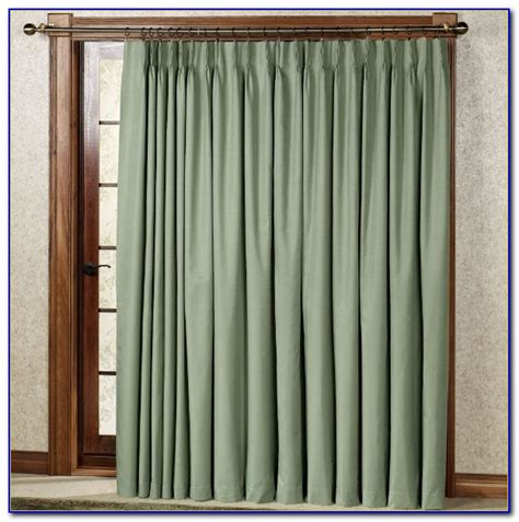sliding door curtain rod length patios home decorating