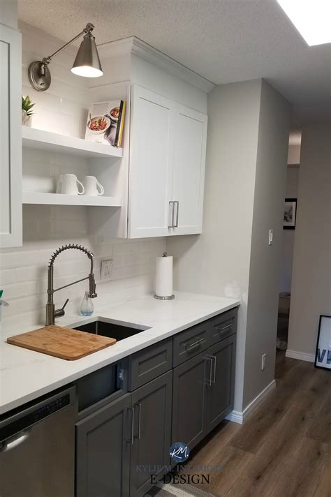 painted oak cabinets dark gray paint color   lowers