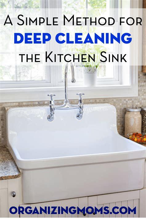 Deep Clean Your Kitchen Sink  Organizing Moms