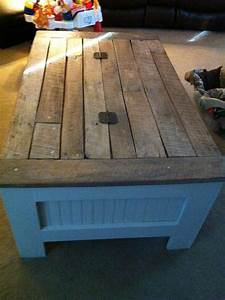 my son in law made a coffee table for me from old barn With coffee tables made from old barn wood