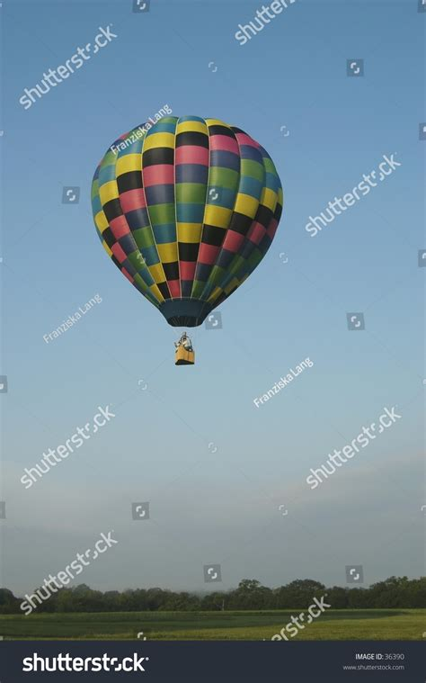 Colorful Hot Air Balloon Soaring Into Stock Photo 36390