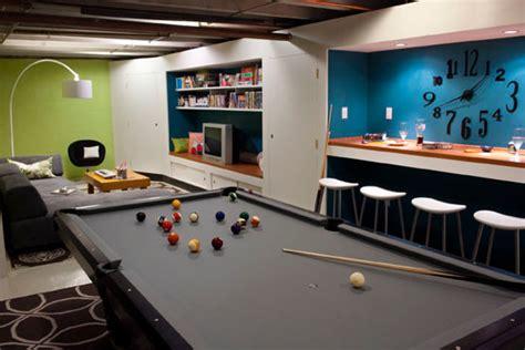 Basement Pool Roomteen Hangout  Contemporary Basement