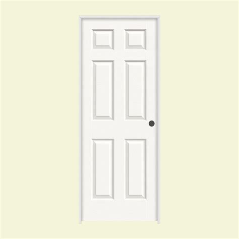 jeld wen interior doors home depot jeld wen 30 in x 80 in colonist white painted left hand smooth molded composite mdf single