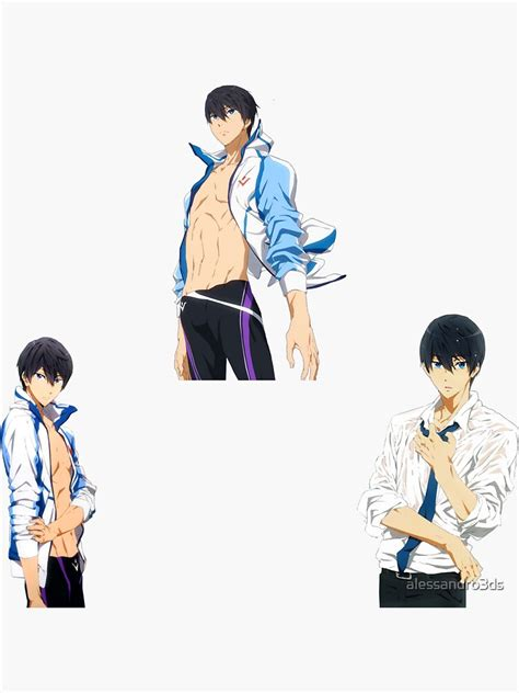 haruka nanase pack of stickers sticker by alessandro3ds