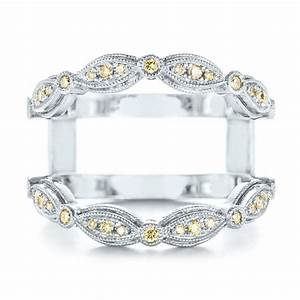 custom yellow diamond jacket wedding band 103392 With wedding ring jackets