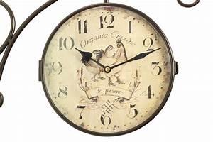 Horloge De Gare : horloge de gare ancienne double face organic cuisine 24cm ~ Teatrodelosmanantiales.com Idées de Décoration