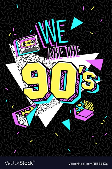 poster in 80s 90s style royalty free vector