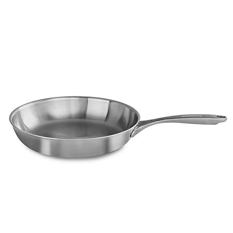 kitchenaid  ply copper core stainless steel skillet bed bath