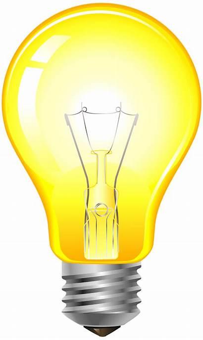 Bulb Clip Yellow Clipart Focos Bulbs Led