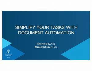 clio cloud conference 2015 simplify your tasks with With clio document automation