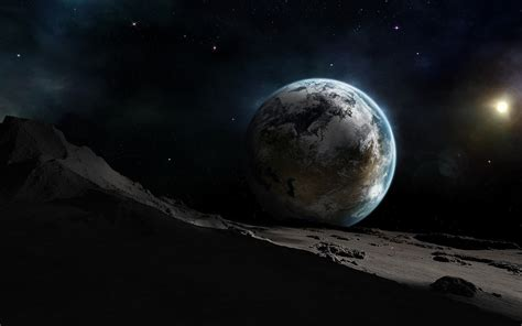 Cool Photos 3d Moon And Earth Wallpaper