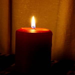 Red, Burning, Candle, Picture