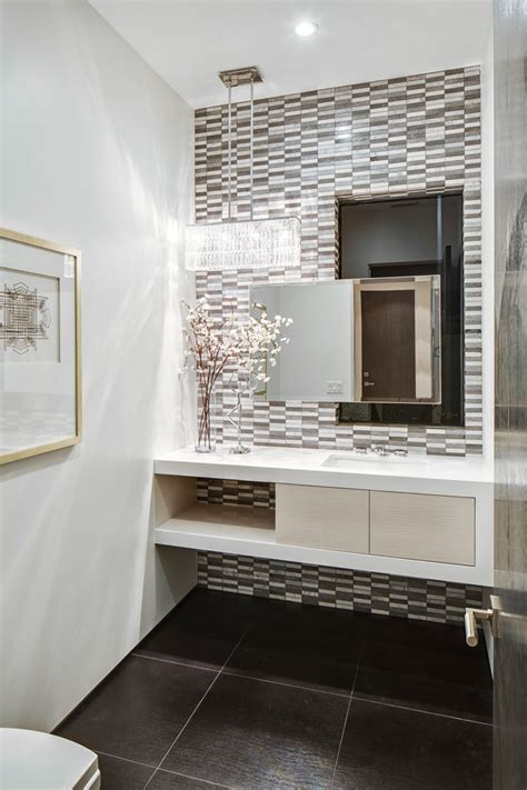 beautiful tiles for kitchen vanities for small bathrooms powder room contemporary with